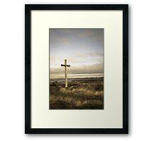 Island cross Framed Print