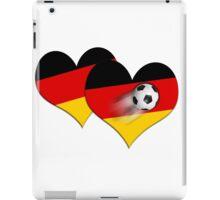 Doppelherz für den Fußball  iPad Case/Skin