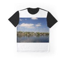 St. Lawrence River Ontario Shore of One from Thousands Islands Graphic T-Shirt