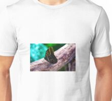 Butterfly on log Unisex T-Shirt