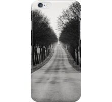 French tree lined road iPhone Case/Skin