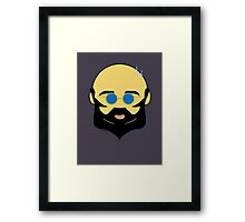 Facial hair with shiny bald head Framed Print