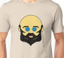 Facial hair with shiny bald head Unisex T-Shirt