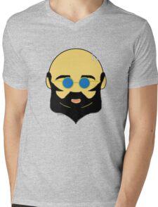 Facial hair with shiny bald head Mens V-Neck T-Shirt