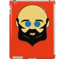 Facial hair with shiny bald head iPad Case/Skin