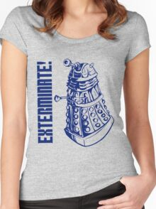 EXTERMINATE! (With Caption) Women's Fitted Scoop T-Shirt