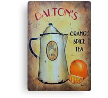 Orange Spice Tea Vintage Sign Art Canvas Print