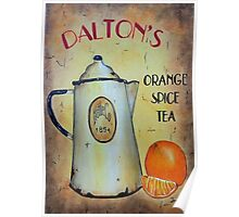 Orange Spice Tea Vintage Sign Art Poster