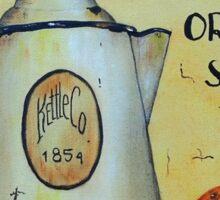 Orange Spice Tea Vintage Sign Art Sticker
