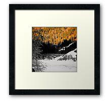 Alpine valley in winter Framed Print