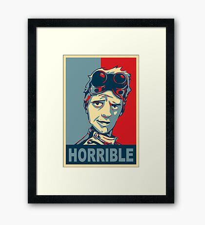 HORRIBLE PROPAGANDA Framed Print