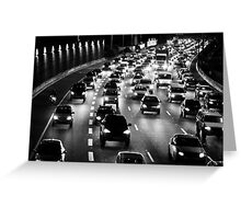 traffic at night Greeting Card