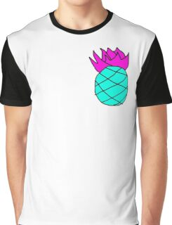 Scruffy Pineapple Psychedelic Graphic T-Shirt