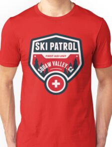 SQUAW VALLEY CALIFORNIA Skiing Ski Patrol Mountain Art Unisex T-Shirt
