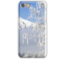 Snow covered mountain peak iPhone Case/Skin