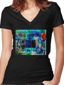 BLUE GENESIS 555 Women's Fitted V-Neck T-Shirt
