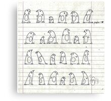 penguin marching Canvas Print