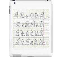 penguin marching iPad Case/Skin