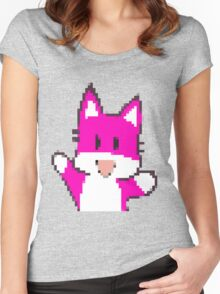 Pink Fox Women's Fitted Scoop T-Shirt