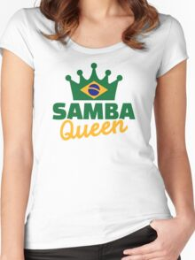 Samba queen Women's Fitted Scoop T-Shirt