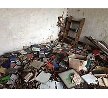 Abandoned Book Storage Photographic Print