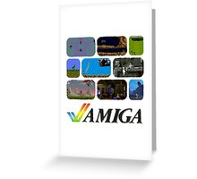 Commodore Amiga - Games Greeting Card