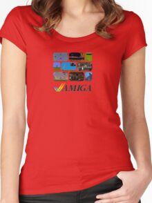 Commodore Amiga - Games Women's Fitted Scoop T-Shirt