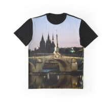The bridge at Blois, River Loire, France Graphic T-Shirt
