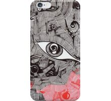 Eye bomb candle abstract art drawing crazy mind iPhone Case/Skin