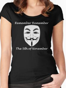 Guy Fawkes - Remember Remember Women's Fitted Scoop T-Shirt