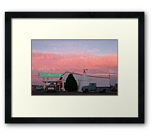 Nostalgic Motel Under Arizona Sunset Framed Print