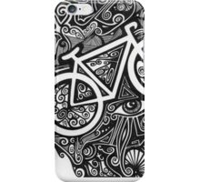 Bicycle abstract art drawing crazy mind iPhone Case/Skin