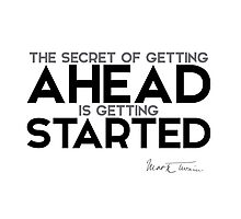 getting started - mark twain Photographic Print
