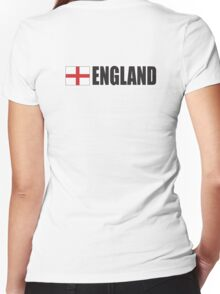 ENGLAND, English, Football, Soccer, Cross of St George, Sport,  Event Women's Fitted V-Neck T-Shirt