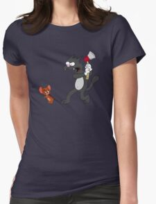 Scratchy & Jerry Womens Fitted T-Shirt