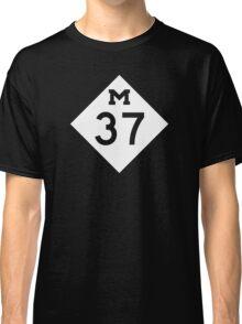 M-37 Highway Sign, Michigan Classic T-Shirt