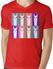 LLAMAS EIGHT Mens V-Neck T-Shirt
