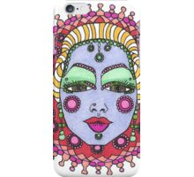 Mandala Face Bejeweled Blond iPhone Case/Skin