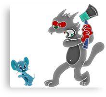 Scratchy & Jerry Canvas Print