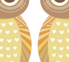 Twin Owls Sticker