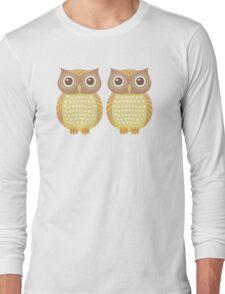 Twin Owls Long Sleeve T-Shirt