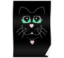 Cat With Sweet Heart Pendant Poster