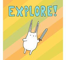Explore Bunny Photographic Print