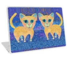 TWIN CATS Laptop Skin
