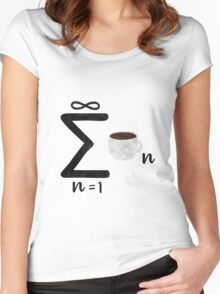 coffee math Women's Fitted Scoop T-Shirt