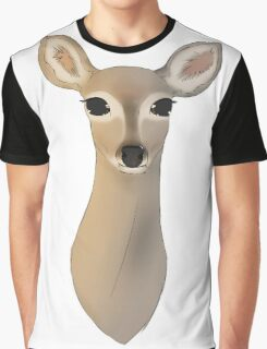 The Deer - Bust Graphic T-Shirt