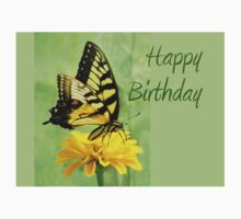 Happy Birthday - Eastern Tiger Swallowtail Butterfly Baby Tee