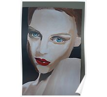 Painting of Woman/ Blue Eyed Charmer Poster
