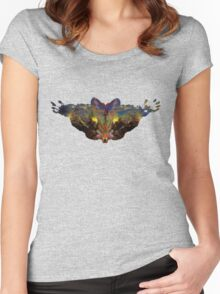 Psychedelic bat... terfly Women's Fitted Scoop T-Shirt