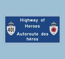 """Highway of Heroes"" Sign, Ontario, Canada Baby Tee"